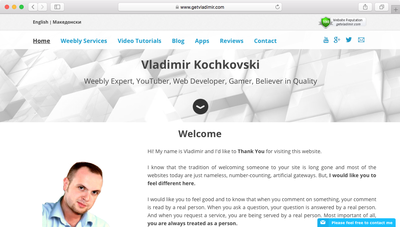 Multiple Languages in Weebly - GetVladimir